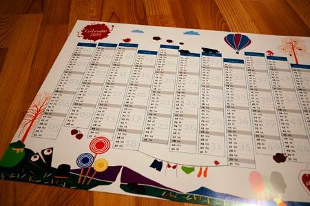 Kalender auspacken